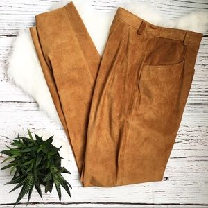 ANN TAYLOR Genuine Leather Vintage Style Pants